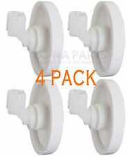 New listing 4 Pack New Ps452448 Dishwasher Lower Rack Wheel & Clip Fits Frigidaire Kenmore