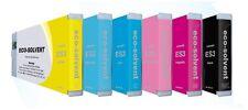 6 x Tinte f. Mimaki JV33 JV34 JV150 JV300 - Eco Solvent Ink SS21 / ES3 Cartridge