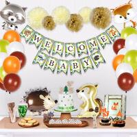 39pcs Woodland Animal Balloon Banner Set Baby Shower 1st Birthday Party Decor