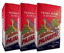 PAJARITO Tradicional - Yerba Mate Tee aus Paraguay - 3 Kg (3x1Kg Yerba Mate)