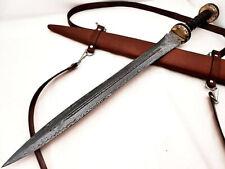Amazing Handmade Damascus  Steel Double Edge Sword