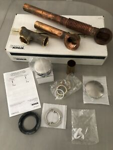 💦NEW - KOHLER Bath Drain Kit 7259-BN Clearflo Brass Toe Tap Brushed Nickel