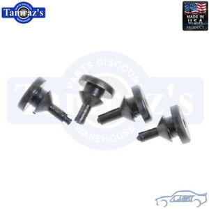 62-65 Chevy II Nova Front & Rear License Plate Rubber Bumpers Set SoffSeal