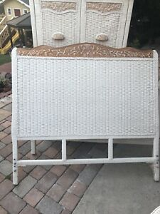 Pier 1 Wicker Full   Or Queen size Headboards Jamaica One Imports