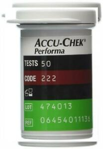 50 Accu Chek Performa / Nano Test Strips Newest Release Very Long...