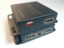 More details for refurbished hdmi over cat5 / cat6 extender. 1080p to 50m. loop-out hdmi. ir. poe