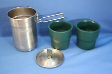 STANLEY ADVENTURE STAINLESS 24 OZ CAMP COOK POT W/LID & 2 INSULATED CUPS