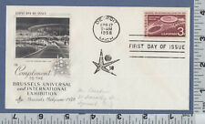 C115 Brussels International Exhibition 1st Day Cover M. Pruden, Syosset, NY