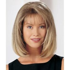 Bob Style Capless Trendy Side Bang Straight Light Blonde Mixed Women Wig Hair
