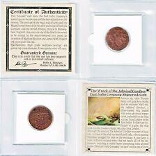 1808 Gardner Shipwreck East India Co 10 CASH Coin,Mini Album,Certificate,Story