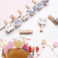 MINI WOODEN CRAFT PEGS Photo Paper Clips Wedding Decor Craft 10 clips+2m rope