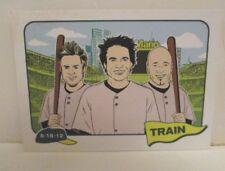 TRAIN 2012 CONCERT TOUR MANN MUSIC CENTER PHILADELPHIA TRADING CARD