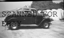 1939 Old Car Convertable Roadster Peugeot  ORIGINAL PHOTO NEGATIVE