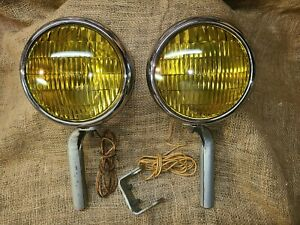 Vintage Original BLC GUIDE Accessory FOG LIGHTS Lamps gm ford chevy working nice