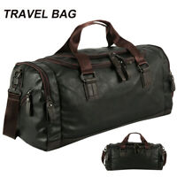 Leather Weekend Bag Genuine Travel Duffle Sports Cabin Gym Holdall Luggage Bag