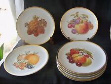 8 Vintage PMR Bavaria Germany Golden Crown E & R 1886 Porc Harvest Fruit Plates