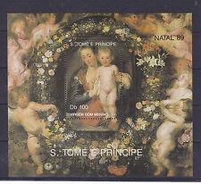 v300 S.Tome & Principe / Weihnachten-Gemälde-Rubens  MiNr  Block 222 **
