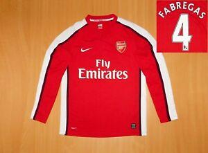 Arsenal FABREGAS 2008 2010 shirt jersey M MEDIUM camisa soccer HOME Nike LONG
