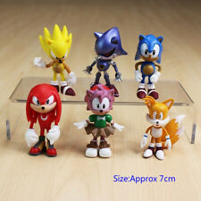 Sonic Cake Toppers Decoration Birthday Party Toy 6 pieces toys Tails Knuckles