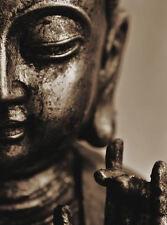 Lámina-Bronce Cara De Buda (imagen de arte cartel religión budista)