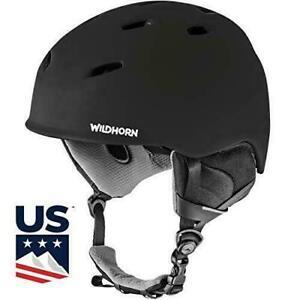WildHorn Outfitters Drift Snowboard/Ski Helmet Medium Stealth VNT Technology