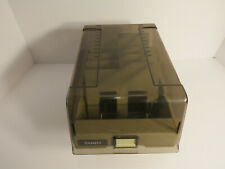 "Tandy 5.25"" Floppy Disk File Storage Case with Dividers Computer Vintage"