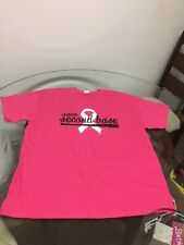 NWOT Chicago Cubs Pink Advocate Healthcare Save Second Base Breast Cancer Shirt