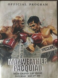 Mayweather V Pacquiao Program + VIP ID Card Holder (rare)