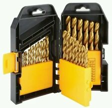 29 Piece Titanium Nitride Coated High Speed Steel Drill Bits Set 1/16 - 1/2 inch