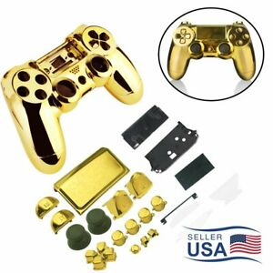 Full Housing Chrome Shell Case Kit Replace Part For PlayStation 4 PS4 Controller