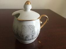 Early 1900s Old Stone Mill Newport RI Walsh Bros Germany Bone China Cup & Cover