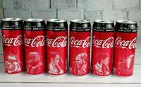"Set 6 pcs.Empty can Coca-Cola Zero sugar"" Limited edition ""STAR WARS"""