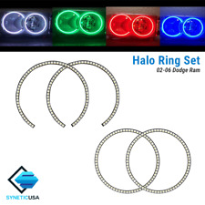 02-05 Dodge Ram Angel Eye LED Halo Ring RGBW Multi-Color Bluetooth Headlight Set