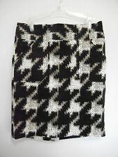 GO International Corduroy Skirt Size 5 or 6 Back Zipper Black White and Gray