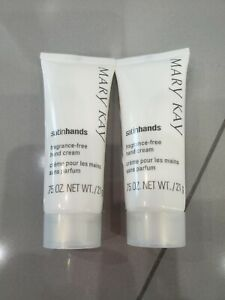 Lot of 2 MARY KAY Satin Hands Fragrance Free Hand Lotion Travel Size