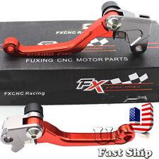 FXCNC Dirt Bike Pivot Brake Clutch Levers For Honda CR80R/85R CR125R/250R 98-03