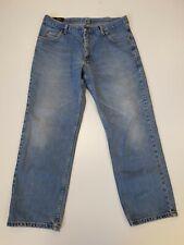 P974 MENS LEE BROOKLYN FADED BLUE STRAIGHT LEG  DENIM JEANS UK XL W38 L30