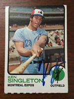 KEN SINGLETON 1973 TOPPS AUTOGRAPHED SIGNED AUTO BASEBALL CARD 232 EXPOS