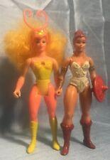 Vintage Masters Of Universe TEELA & SWEET BEE SHE-RA Princess of Power MOTU POP