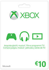 MICROSOFT XBOX Live 10 Euro Card K4W-00064 MICROSOFT
