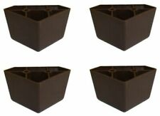 4 Universal Dark Brown Triangle Legs Feet Plastic Furniture Sofa~Couch~Chair