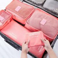6 Pcs/Set Travel Storage Bags Clothes Packing Cube Luggage Organizer Pouch Bag