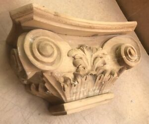 Architectural Wooden Pilaster Capital - Corinthian Carved - Paint Grade - PN484