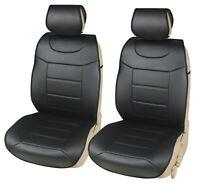 2 Auto Schonbezüge Kunstleder Sitzbezüge Schwarz für Mazda Skoda Subaru Hyundai
