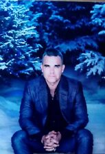 Robbie Williams Signed Christmas Card + Blue Cassette + Deluxe Christmas CD
