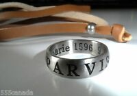NEW Uncharted 3 Sir Francis Stainless Steel Drake's Ring  + Leather Necklace