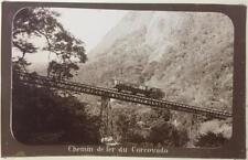 Brazil - Chemin de fer Corcovado. Locomotive train. Marc Ferrez. c 1890's.