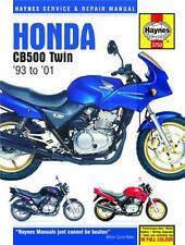 Haynes Hard Cover Manual Honda CB500 Twins 93-01 #3753 Repair Workshop Manual