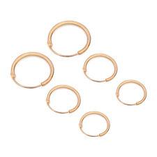 New Round Small Sleeper Hoops Earrings 3 Pairs Earrings Hoop 10mm 12mm 15.5mm
