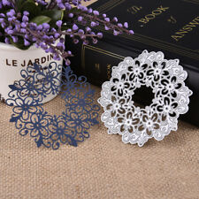 Hollow Lace Flower Cutting Dies Stencil Scrapbooking Embossing Paper XMAS Cards